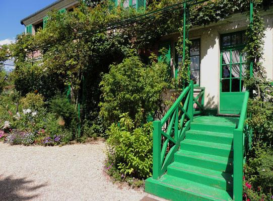 L'entrée de la maison-musée de Monet
