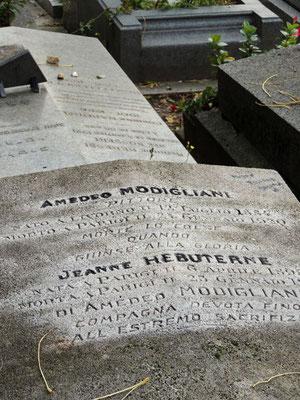 Tombe d'Amedeo Modigliani et Jeanne Hébuterne