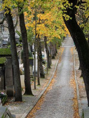 Un sentiero del cimitero