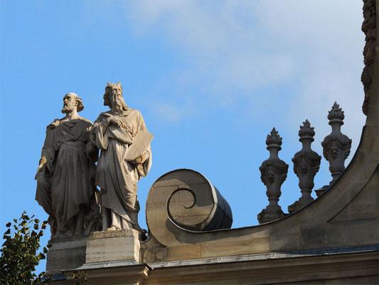 Un dettaglio della facciata della Sorbona