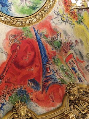 Un dettaglio del soffitto di Marc Chagall