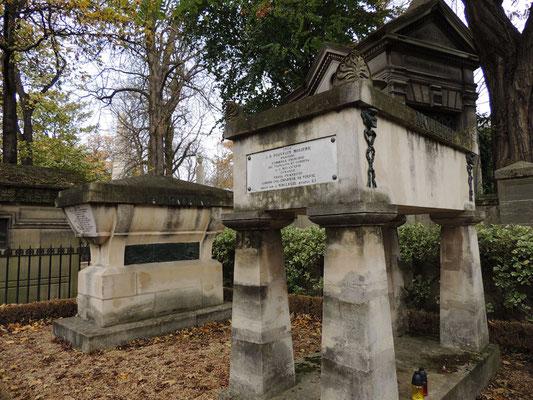 Tombe di Jean de La Fontaine e di Molière