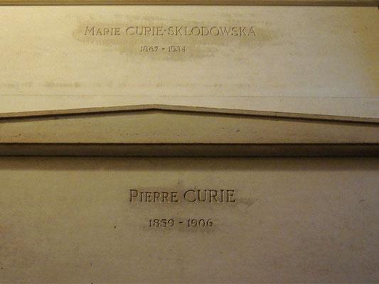 Les tombeaux de Marie et Pierre Curie