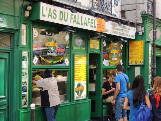 Un negozio in rue des Rosiers