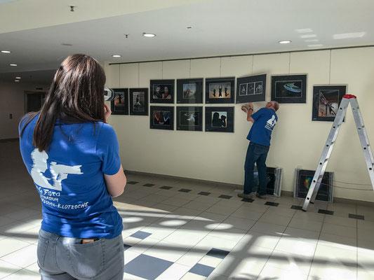 Ausstellungsaufbau - Foto: Rita Boden