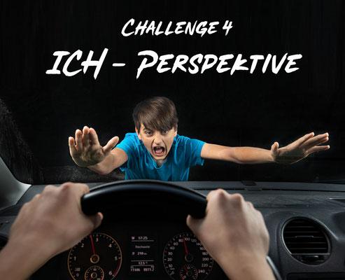 AG Foto-Challenge 4: Ich-Perspektive (Foto: Rita Boden - Vollbremsung)