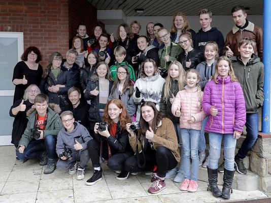 Gruppenbild mit den Ochtruper Lichtmalern - Foto: Christian Scholz