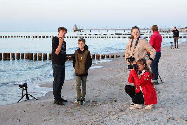 Fotografieren am Strand - Foto: Rita Boden