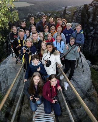 Gruppenbild auf der Schrammsteinaussicht - Foto: Christian Scholz
