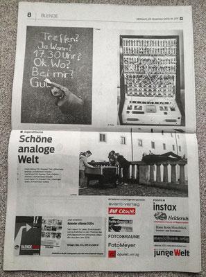 Eine ganze Seite für die Siegerfotos der Jugend in einer Sonderbeilage Blende der Jungen Welt Berlin
