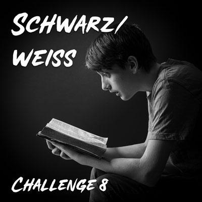 AG Foto-Challenge 8: Schwarz/Weiß (Foto: Rita Boden - Erleuchtung)