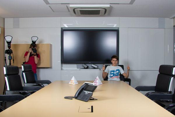 Fotoshooting im Akademiehotel - Foto: Leoni Kipka