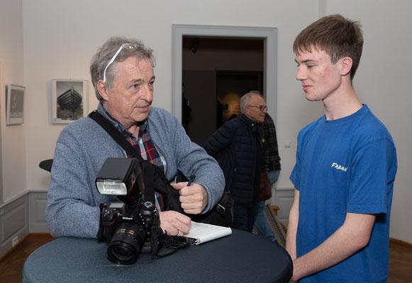 Fabian Bräkow im Interview - Foto: Rita Boden