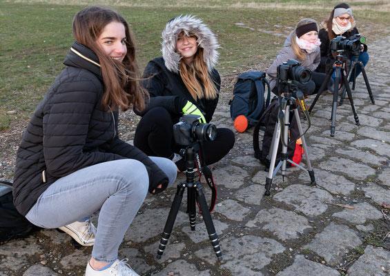 Fotografieren der Dresdener Silhouette mit angehenden Lichtern - Foto: Rita Boden