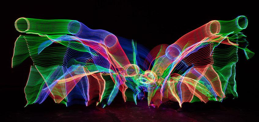 Lichtmalerei - Foto: Rita Boden