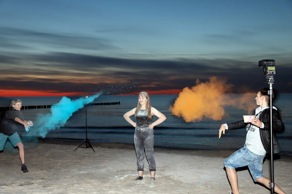 Fotografieren am Strand - Foto: Uwe Schoffer