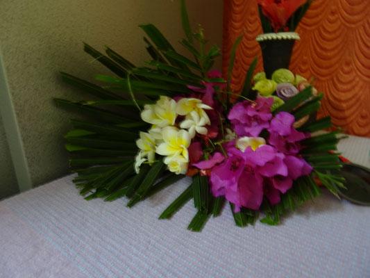 die Blumen habe ich bekommen