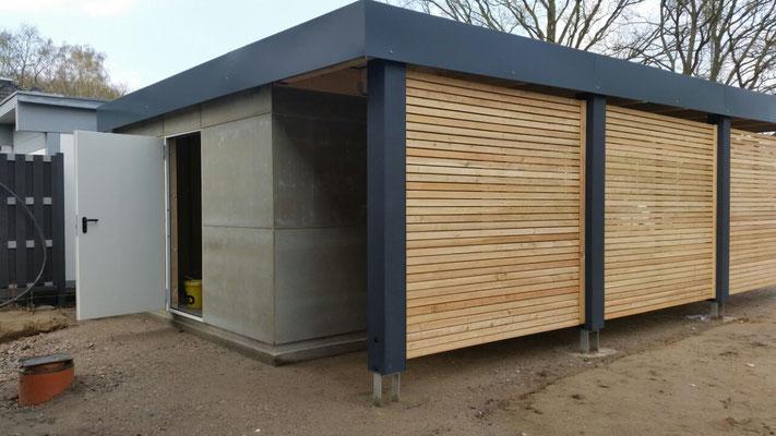 Wir montieren Gebäudebausätze, Fertigteilgaragen und Carport