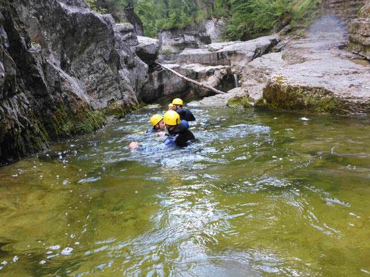 Canyoning Almbach Almbachklamm Strubklamm