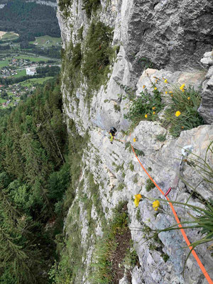 Bergführer Sportklettern Salzkammergut Seenot