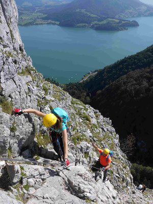 Klettersteig Klettersteigkurs Salzkammergut Drachenwand Bergführer