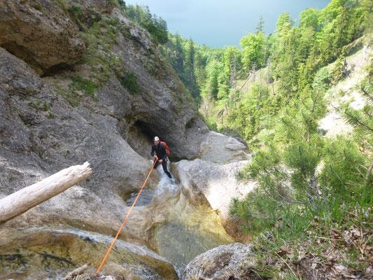 Canyoning Salzkammergut Burgau Strubklamm Almbach