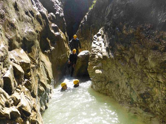 Canyoning Almbach Almbachklamm Burgau Bruggraben Klamm