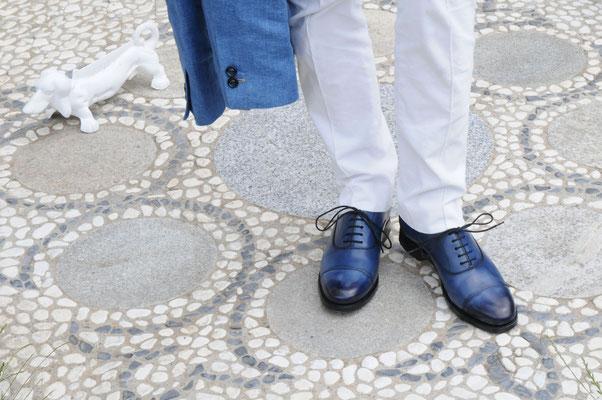 Schuhe von John Crocket 115-blue