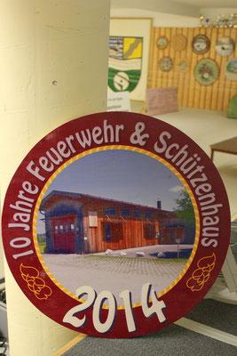 10 Jahre Feuerwehr- & Schützenhaus - Gewinner der Scheibe: Ernst Weidl