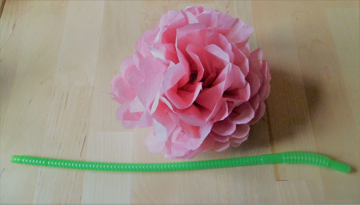 Rose en papier de soie