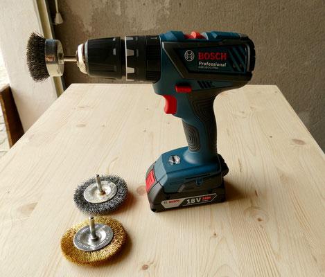 Drahtbürstenaufsätze für die Bosch Bohrmaschine