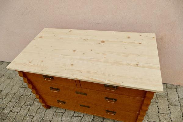 Kommode Holzplatte bearbeiten