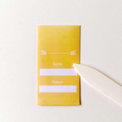 Samentüten falten- Vorlage zum Download