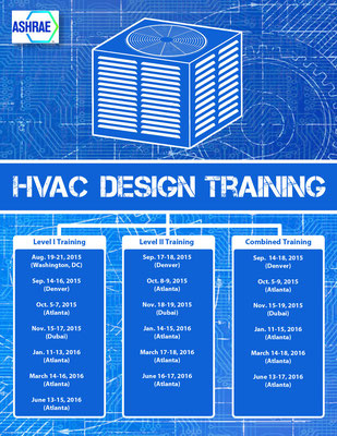 HVAC training schedule designed for ASHRAE (An HVAC organization)