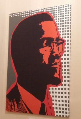 Malcolm X, 72 in. x 48 in., Oil