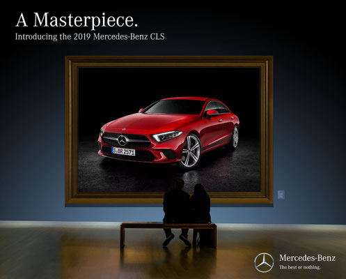 Mock Mercedes ad created for Matlock Advertising Agency