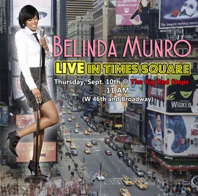Flyer designed for R&B singer Belinda Monroe