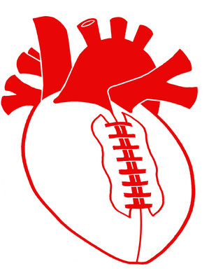 Football Heart shirt design