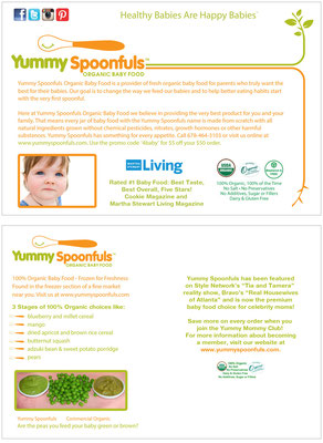 Postcard for Yummy Spoonfuls baby food