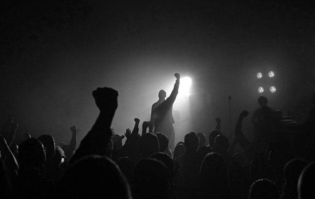 Oxomo Puccino, Roi sans carosse, pendant le concert, octobre 2013