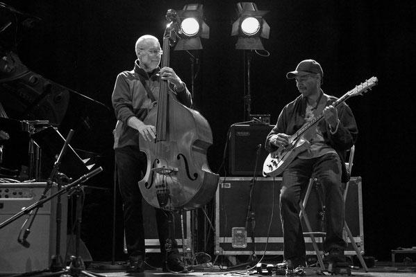 Dave Holand, Quartet Prism. Balances avant le concert. Grande salle du Prisme. Novembre 2013