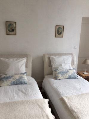 lits en 90 chambre d'hôtes avec 2 lits séparés en Lot et garonne