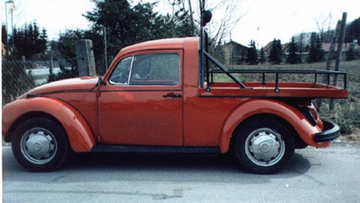 Basismodell: 1302 Bj. 71, Umbau 1984 mit Reling, Marsrot, 34KW/44PS, Serienbereifung.