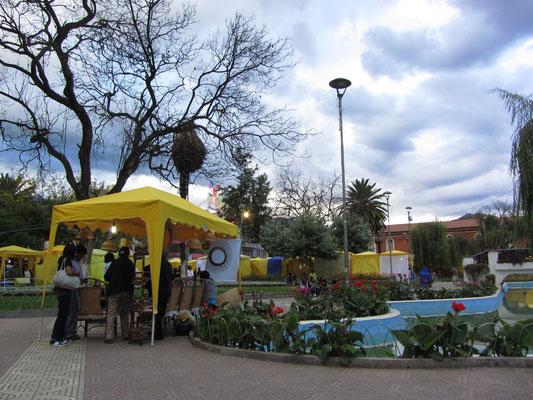 Markt auf dem Plaza Colon.