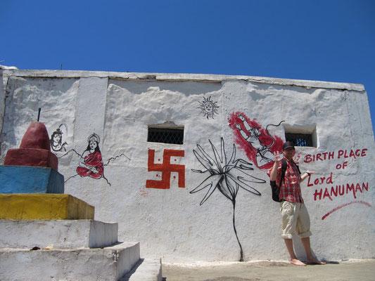 Ein Grafitti belegt, dass Hanuman nur hier geboren sein kann. Eindeutiger geht's nicht.