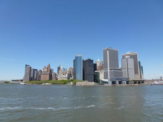 Auf dem Weg nach Staten Island. Manhattan's Südspitze im Rücken.