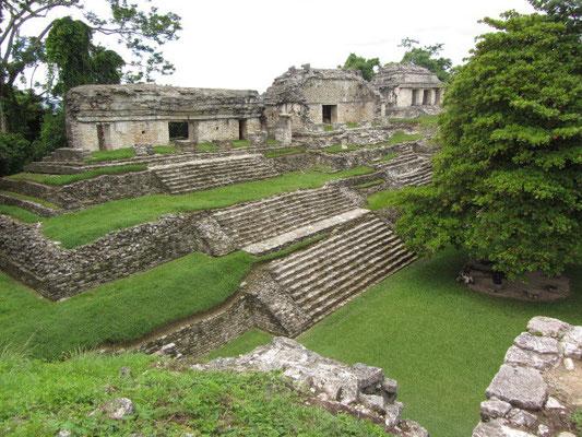 Die Nordgruppe vom Templo del Conde aus.