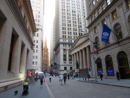 Vor der amerikanischen Börse.
