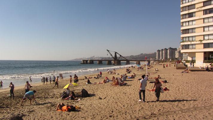 Schöner Strand.