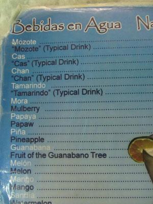 Wirklich exotische Drinkes.